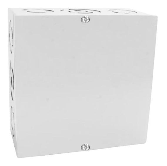 Caixa De Passagem Sobrepor 200x200mm Branca Metal Ip-44 Gome