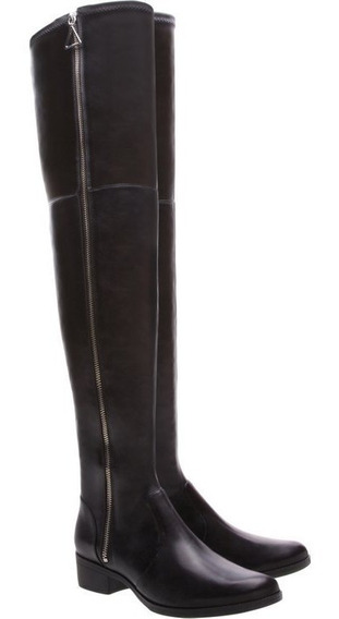 Bota Schutz Over The Knee Flat Black