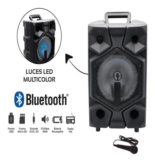 Amplificador Recargable 15w Rms Bluetooth