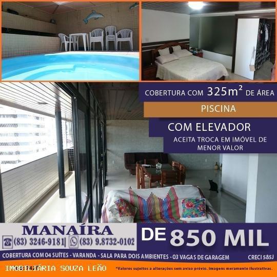 Apartamento Para Venda Em João Pessoa, Manaíra, 4 Dormitórios, 4 Suítes, 3 Banheiros, 3 Vagas - 7428