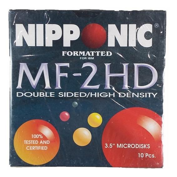 Disquete Nipponic Mf-2hd 10 Peças