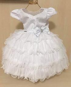 Vestido Infantil Datas Especias 01 Ano Menina Bonita