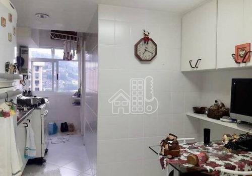 Apartamento Com 2 Dormitórios À Venda, 82 M² Por R$ 540.000,00 - Icaraí - Niterói/rj - Ap2356