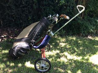 Set Completo De Palos De Golf Dynacraft Con Bolso Y Carro