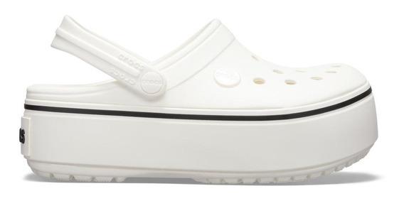 Crocband Platform White/white Gs