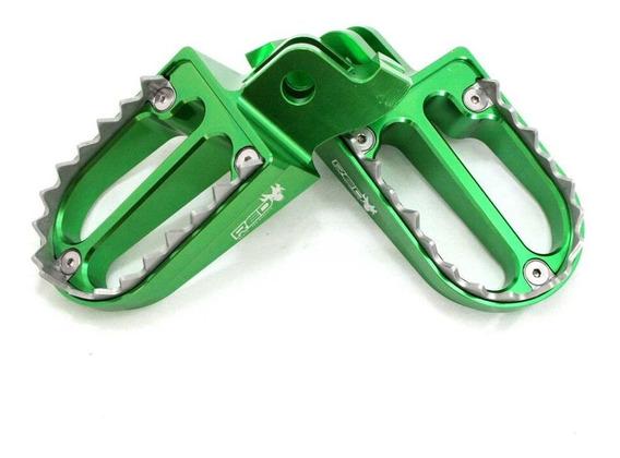 Pedaleira Shark Klx 450 2008 Acima Aluminio Verde