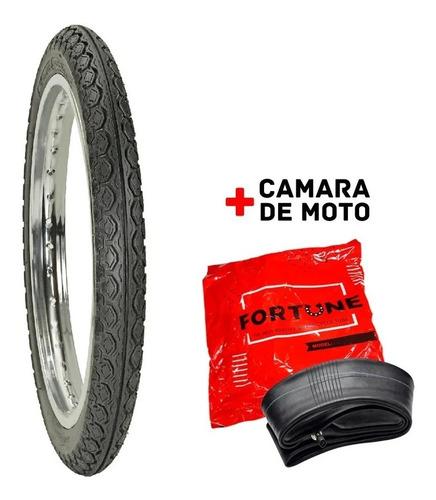 Cubierta 80/100-14 Mas Camara Trasera Motos 110  Wagner Moto
