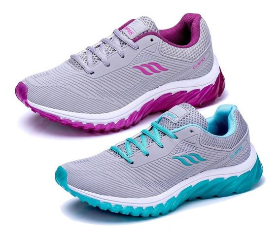 Combo 2 Pares Tênis Feminino Olimpak Para Caminhada Academia