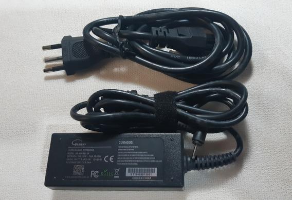 Carregador De Notebook Leaves 19v 2,1a Conector 2,5 0,7mm