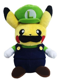 Pikachu Cosplay Luigi Pokemon Pelucia Luigi Pikachu