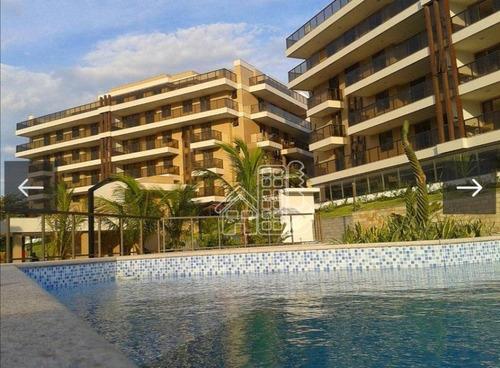 Apartamento Com 4 Dormitórios No Punta Del Mar À Venda, 215 M² Por R$ 1.400.000 - Piratininga - Niterói/rj - Ap4048