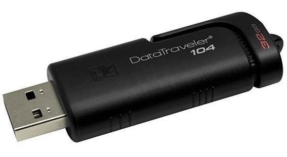 Pendrive De 32gb Kingston Datatraveler 104 Usb 2.0 - Preto