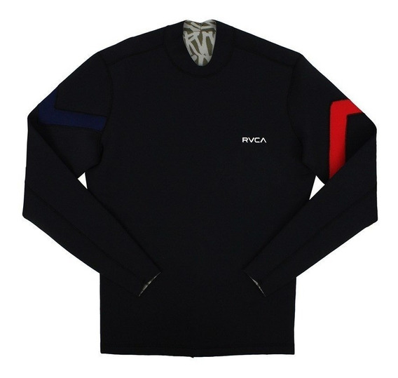 Jaqueta De Neoprene Rvca Chevron 2mm Back Zip Black