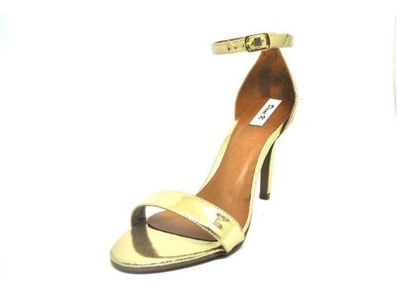 Salto Alto Sandalia Feminina Dourada Dani K
