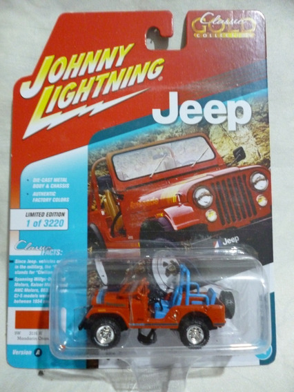 Johnny Lightning Jeep Cj 5 Naranja - J P Cars
