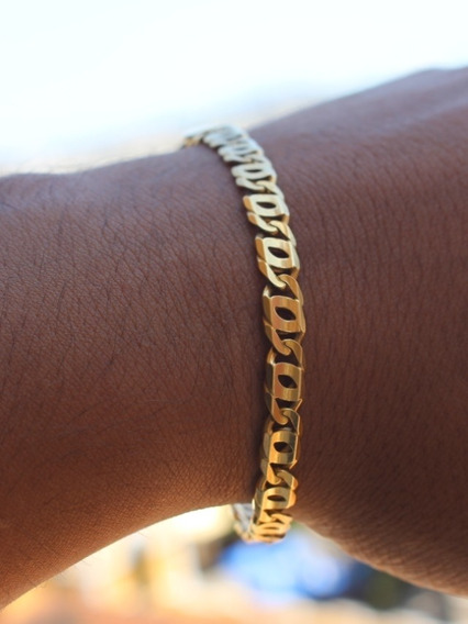 Pulseira Ouro 18k Piastrine Maciça - Joalheria