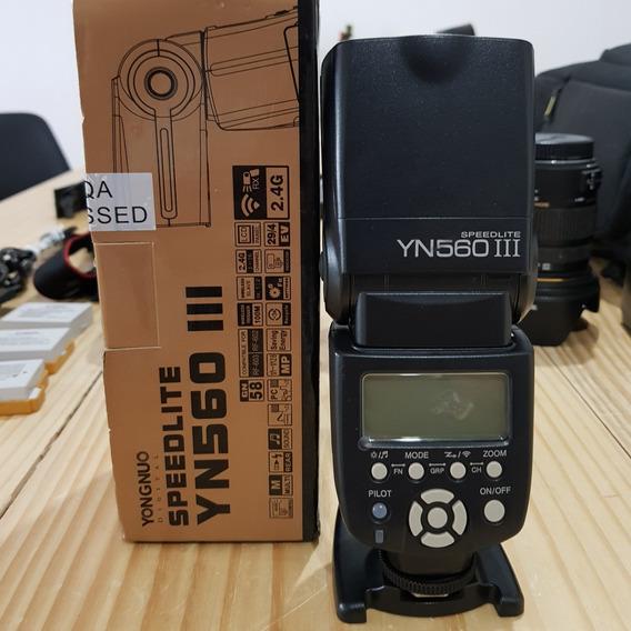 2 Flashs Yongnuo Para Canon - Grátis 1 Rebatedor De Pvc