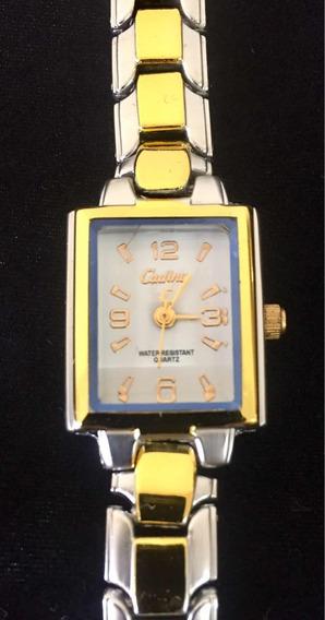 Relógio Feminino Cadina Branco Produto De Mostruário 004