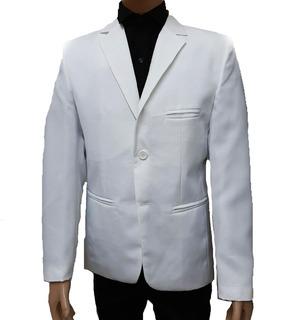 Saco Blanco Hombre Entallado Saco Entallado Blazer Slim Fit
