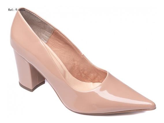 Sapato Feminino Scarpin Salto Alto Bloco Básico Dia A Dia