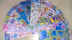 Kit 120 Cartelas Adesivos Sticker - Temas Variados