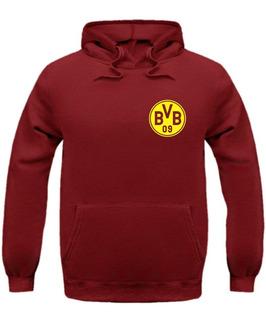 Blusa Borussia Dortmund Time Liga Canguru Capuz