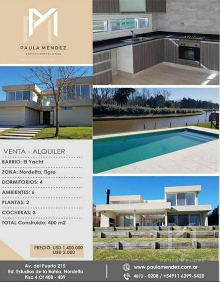 Casa- Alquiler- Venta- 6 Ambientes - El Yacht -nordelta
