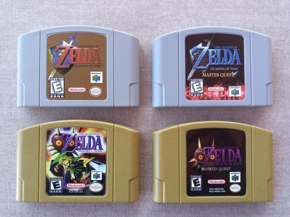 Saga Completa Zelda Ocarina Of Time Majoras Mask Nintendo 64