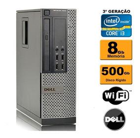 Cpu Dell Mini Optiplex 7010 Sff I3 3ª 8gb Hd 500gb Rw Wifi