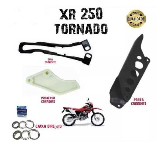 Protetor + Guia + Porta Corrente + Caixa Direção Tornado 250