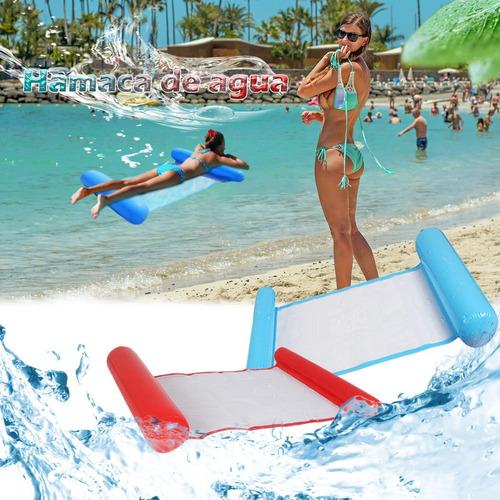 Imagen 1 de 10 de Colchón Inflable Piscina Reclinable Hamaca De Agua Flotante