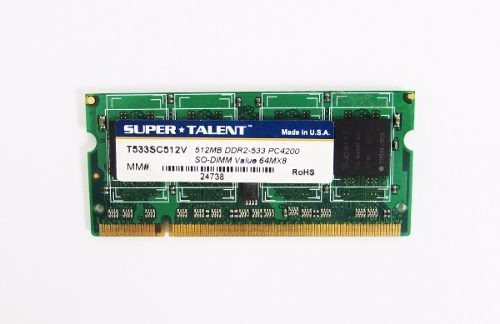 Memoria Super Talent 512mb Ddr2 533 Pc4200 64mx8