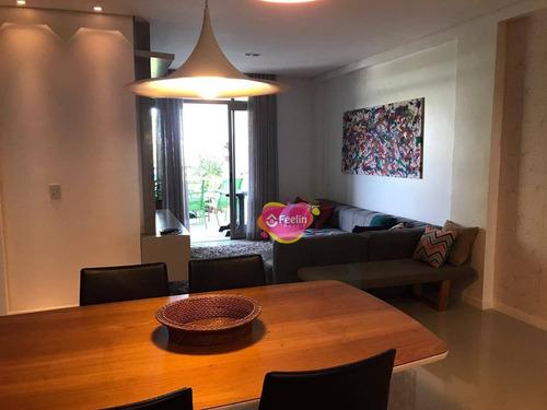 Apartamento Com 3 Dormitórios À Venda, 116 M² Por R$ 1.180.000,00 - João Paulo - Florianópolis/sc - Sc - Ap0014_feelin