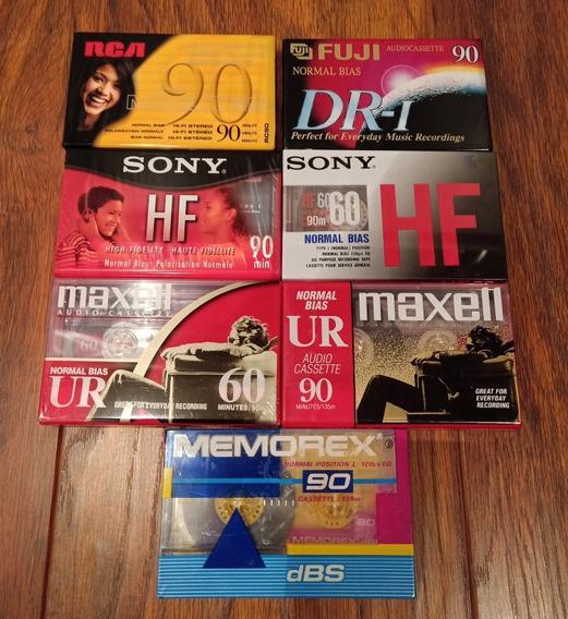 Fitas Cassetes Virgem Lote 7 Unidades Importadas Lacradas
