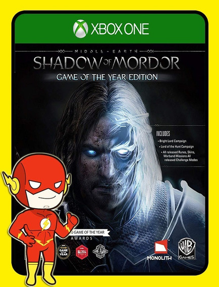 Middle-earth Shadow Mordor Goty Xbox One - (envio Flash)