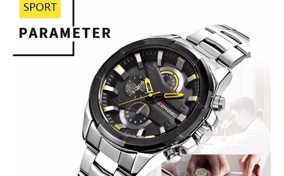 Relógios Masculino Longbo Aço Inoxidável Ótima Qualidade.