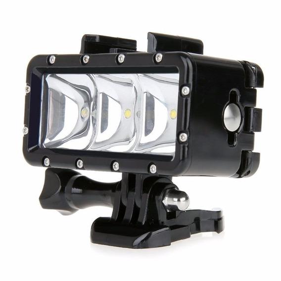 Lanterna A Prova D Água 3 Led Waterproof P/ Gopro Hero 4 Sj