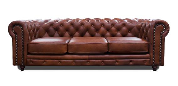 Sala De Piel - Chesterfield / Sofa Y Love - Contado