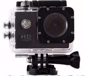 Camera Sportcam Com Kit Sport 1080p Hd Dv Preta