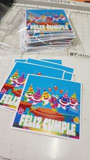 Stickers Baby Shark Candy Bar Cierre Bolsita Babyshark X35u