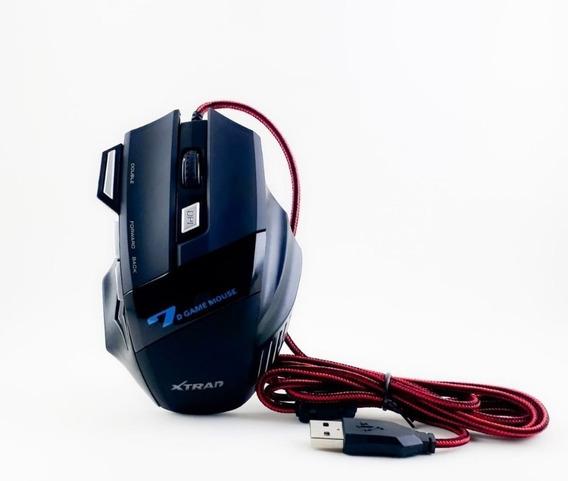 Mouse Gamer Usb Óptico Pc 3000 Dpi Led Xtrad 7d Xd-x7