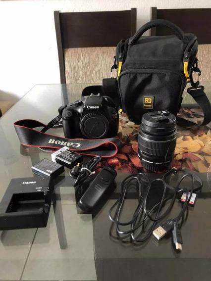 Câmera Eos Canon Rebel T3 + Acessórios