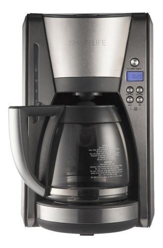 Imagen 1 de 2 de Cafetera Smartlife SL-CMD7004 automática plateada de filtro 220V