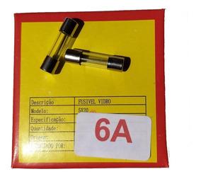 Fusível De Vidro 6a 250v 5x20 Caixa 100peças