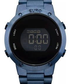Relógio Euro Feminino Digital Azul - Eubj3279ac/4a