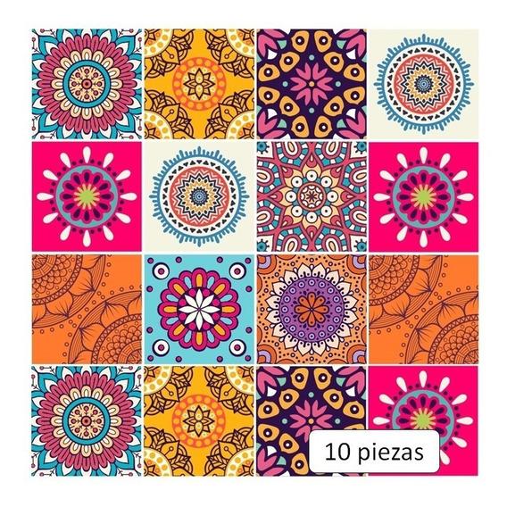 Azulejos Adhesivos Cocina Baño Mosaico Mandala Hindú Budista