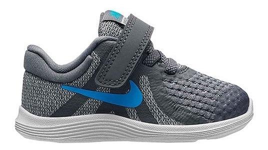 Tenis Nike Revolution 4 (btv) Gris Tallas De #11 A #16 Bebes
