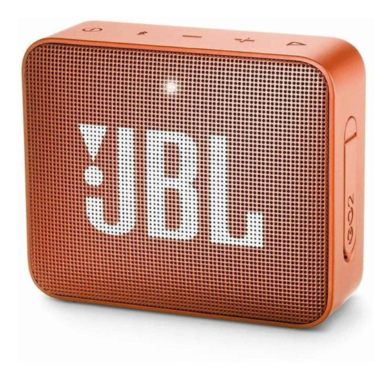 Som Portátil Com Bluetooth Jbl Go 2 Coral Orange