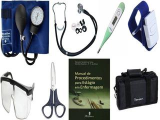Kit Enfermagem E Estágio Completo - Com 7 Itens + Bolsa