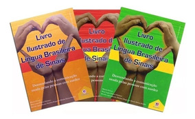 Kit Libras Livro Ilustrado Língua Brasileira De Sinais